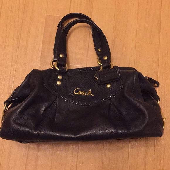 825a93c9825bd Coach Handbags - COACH Ashley Black Leather Satchel